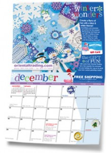 Free Oriental Trading calendar!