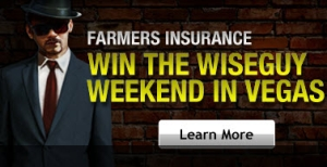 Farmers Insurance's Win a Wiseguy Weekend to Las Vegas Sweepstakes