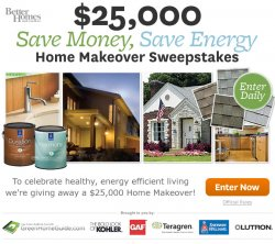 Better homes and gardens save money save energy home Home and garden contest