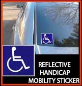 Free Reflective Handicapped Sticker