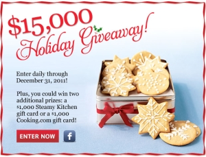 Cooking Light's 2011 Holiday Giveaway