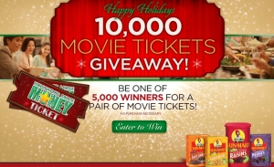 Sun Maid 10,000 Holiday Movie Ticket Sweepstakes