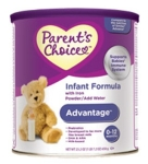 Free Infant Formula from Parent's Choice