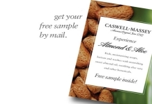 Free Caswell-Massey Almond and Aloe Hand and Body Emulsion Sample