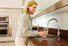 Glass of Water in Kitchen'