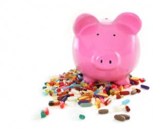 Piggy Bank with Pills