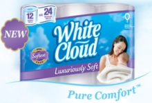 White Cloud Luxuriously Soft Bath Tissue