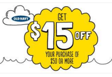 Old Navy $15 Off