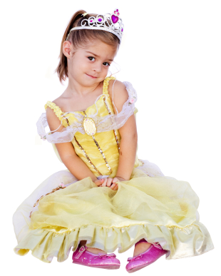 Halloween costumes can be expensive.  Save money by using these ideas to make your own princess costume!