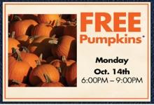 RC Willey Free Pumpkin