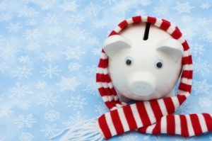 Winter Piggy Bank