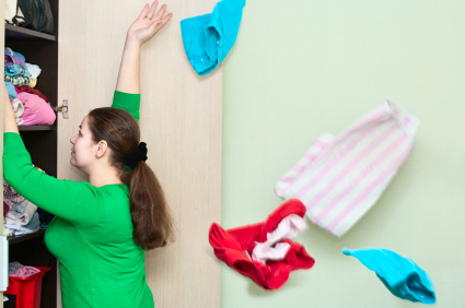 Believe it or not, cleaning out your closet is the first step towards saving money on clothing.