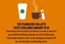 Starbucks Via Latte Challenge