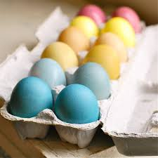 easter eggs naturally dyed