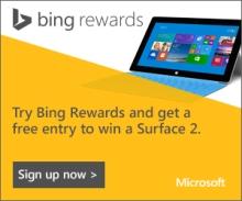 Surface 2 Bing Rewards
