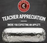 Teacher Appreciation Day Chipotle