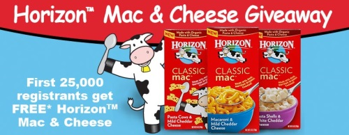 FREE Box of Horizon Mac & Cheese