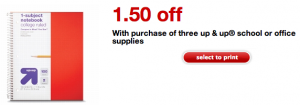 target 3 school supplies coupon