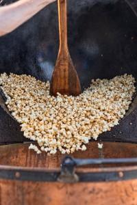 Popped kettle corn