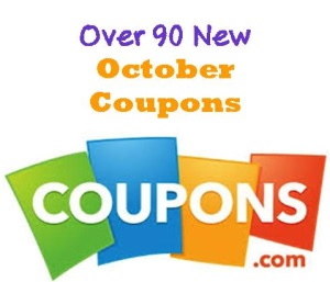 October 1st: Over 90 NEW Coupons to Print