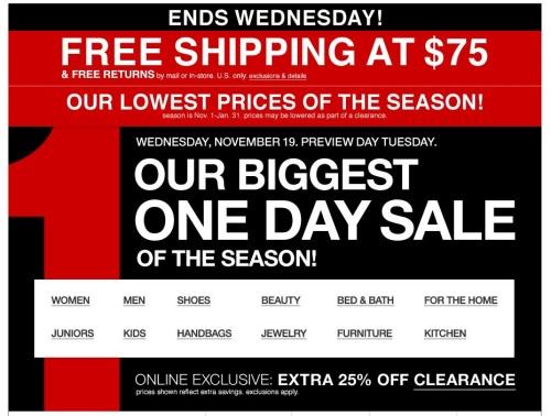 macys 1 day sale