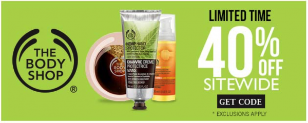 thebodyshop 40 off