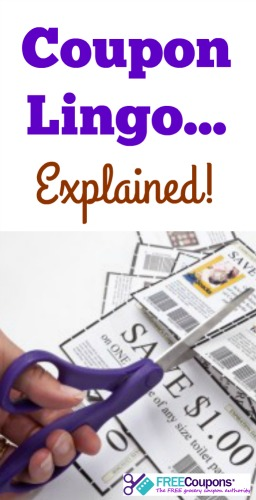 What does that phrase on the coupon you are holding really mean?  Here is a quick look at some coupon jargon.