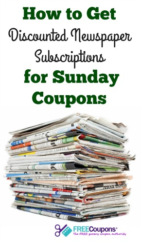 Discounted Newspaper Subscriptions for Sunday Coupons