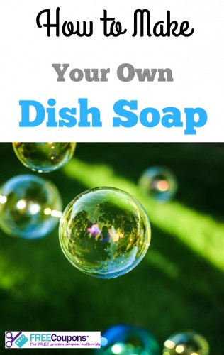 One way to save money on dish soap is to make your own.  Here is some advice about how to do it.