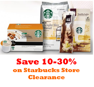 starbucks clearance