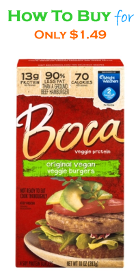 Boca Meatless Entrees for Only $1.49