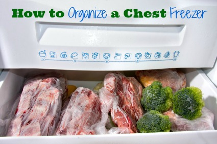 Do you stockpile frozen foods in a chest freezer?  Keeping it nice and organized can save you both time and money.