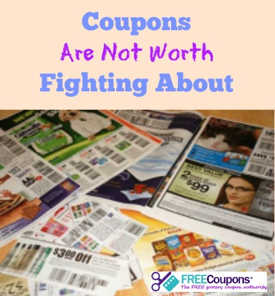 Coupons Are Not Worth Fighting About