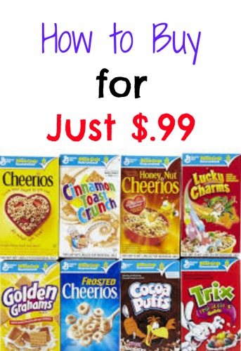 General Mills Cereal for Only $.99