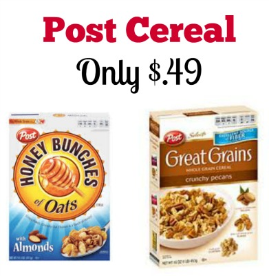 Post Cereal for Only $.49