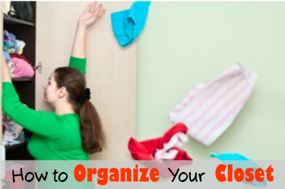 Is your closet packed to overflowing?  Use these simple steps to organize it and make it useable again!