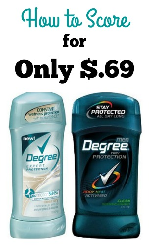 Degree Deodorant for Only $.69