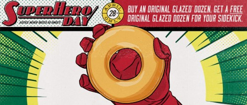 Buy 1 Dozen Get 1 Free from Krispy Kreme – April 28 Only!