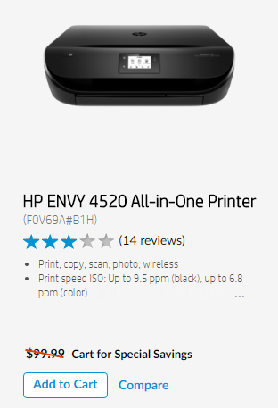Get an HP Envy 4520 All-in-One Printer for just $74.99 after promo code! What would you buy with an extra $250 to spend at HP.com? Enter now to win a gift card, plus learn how to save $15 off your $75 purchase today! # #HPSpringGiveaway